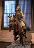 Ancient Samurai on horseback, Dallas, Texas. Pictured is an ancient samurai armor suit and horse equipment in The Ann and Gabriel Barbier-Mueller Museum. The Royalty Free Stock Photography