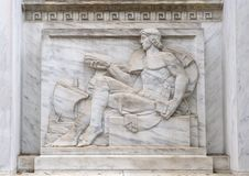 Bas-relief sculpture East side of the main entrance to the Robert N.C. Nix, Sr. Federal Building. Pictured is a bas-relief sculpture by Alfred-Alphonse Bottiau Royalty Free Stock Photography