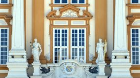 Statues and Melk Abbey Coat of Arms, Melk Abbey stock images