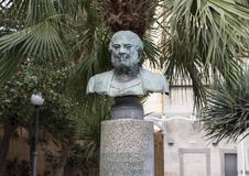 Bust honoring Barolomeo Capasso  in municipal park, Sorrento Stock Images