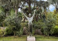 Statue of Saint Francis of Assisi by renowned sculptor Alfiero Nena, Sorrento. Pictured is a bronze sculpture of Saint Francis of Assisi by renowned sculptor Royalty Free Stock Image