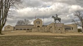 Bronze sculpture of Will Rogers on horseback, Claremore, Oklahoma. Pictured is a bronze sculpture of Will Rogers on horseback by Electra Wagoner Biggs in the Stock Photography