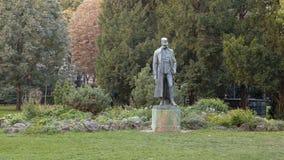 Bronze statue Emperor Francis Joseph I of Austria, Burggarten Park, Vienna royalty free stock photo