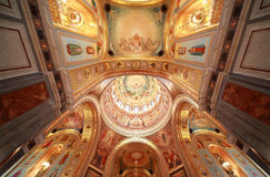 Pictured ceiling with archs inside Cathedral Stock Images