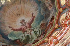 Pictured ceiling inside Cathedral Royalty Free Stock Photo