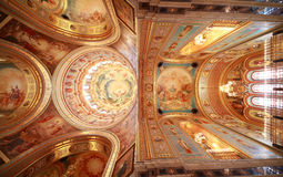 Pictured ceiling near balcony inside Cathedral Royalty Free Stock Photography