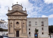 Chiesa del Carmine and adjoining convent, Ostuni Royalty Free Stock Images