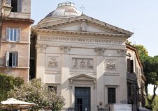 The church of San Giovanni della Malva in Trastevere. Pictured is the The church of San Giovanni della Malva It is a church in Rome, in the Trastevere district Stock Photos
