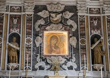 Closeup view of the Altar of the Madonna della Bruna in the Matera Cathedral, Italy Royalty Free Stock Images