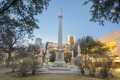The Confederate War Memorial in Dallas, Texas. Pictured is the Confederate War Memorial in Dallas, Texas in Pioneer Park. The monument was designed by Frank royalty free stock photo