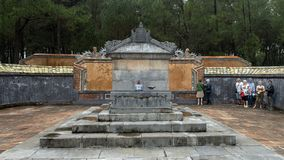 The Emperor`s Sepulcher in Tu Duc Royal Tomb complex 4 miles from Hue, Vietnam. Pictured is the Emperor`s Sepulcher in Tu Duc Royal Tomb complex 4 miles from Hue stock images