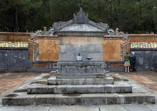 The Emperor`s Sepulcher in Tu Duc Royal Tomb complex 4 miles from Hue, Vietnam. Pictured is the Emperor`s Sepulcher in Tu Duc Royal Tomb complex 4 miles from Hue royalty free stock photos