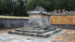 The Emperor`s Sepulcher in Tu Duc Royal Tomb complex 4 miles from Hue, Vietnam. Pictured is the Emperor`s Sepulcher in Tu Duc Royal Tomb complex 4 miles from Hue royalty free stock photo