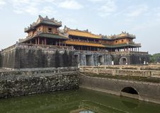 Noon Gate, Entrance to the Imperial City, Hue. Pictured is the entrance to the Imperial City in the Citadel in Hue, Vietnam. It is the main entrance and has royalty free stock images
