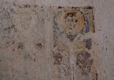Fresco of Saint Philip in La Chiesa Di Lama D` Antico, Parco Rupestre Lama D`Antico. Pictured is a fresco of Saint Philip in an ancient cave church, La Chiesa Di Stock Photo