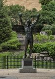 `Rocky` statue by A. Thomas Schomberg near entrance Philadelphia Museum of Art, Benjamin Franklin Parkway Stock Photos