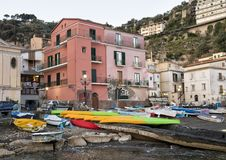 Marina Grande, fishing village in Sorrento, Italy. Pictured is the Marina Grande, a fishing village in Sorrento.  Sorrento is a town overlooking the Bay of Stock Images