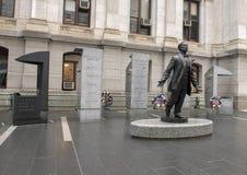Octavius Valentine Catto Memorial, City Hall, Philadephia. Pictured is a memorial to Octavius Valentine Catto outside City Hall, Philadelphia, Pennsylvania Stock Photography