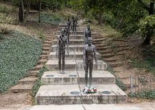 The Memorial to the Victims of Communism, prague, Czech Republic. Pictured is the The Memorial to the victims of Communism, a series of bronze statues in Prague royalty free stock images
