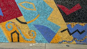 Mosaic Mural by Lynn Denton in South Philadelphia. Pictured is a Mosaic Mural by Lynn Denton seen during a walking tour of South Philadelphia.  It is very Royalty Free Stock Photo