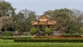 Old Gazebo in the garden of the Forbidden city , Imperial City inside the Citadel, Hue, Vietnam. Pictured is an old Gazebo in the garden of the forbidden city stock image