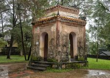 Small pavilion beside the seven story Phuoc Duyen tower in the Thien Mu Pagoda, Hue, Vietnam. Pictured is one of several small pavilions beside the seven story royalty free stock images