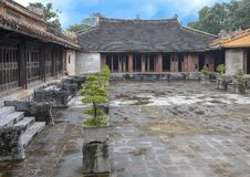 The palace complex adjoining Hoa Khiem Palace in the Tu Duc Royal Tomb complex, Hue, Vietnamn. Pictured is the palace complex adjoining Hoa Khiem Palace in the royalty free stock photography