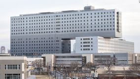 Parkland Memorial Hospital, Dallas, Texas. Pictured is Parkland Memorial Hospital, Dallas County`s public hospital. It was originally founded in 1894. The newest royalty free stock photography