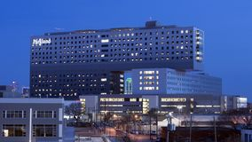 Parkland Memorial Hospital, Dallas, Texas. Pictured is Parkland Memorial Hospital, Dallas County`s public hospital.  It was originally founded in 1894.  The Royalty Free Stock Photos