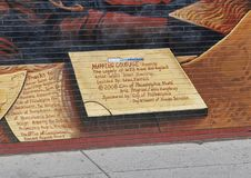 `Mapping Courage` by Willis `Nomo` Humprey, South Street, Philadelphia. Pictured is part of a City of Philadelphia Mural Arts Program Mural entitled `Mapping royalty free stock photo