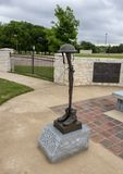 Monument for soldiers who died in World War I in the Veteran`s Memorial Park, Ennis, Texas. Pictured is a part of a monument for soldiers who died in World War I royalty free stock photos