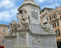 Patriarch Moses by Jacometti, base of the Column of the Immaculate Conception monument, Rome. Pictured is the Patriarch Moses by Jacometti at the base of The Stock Images