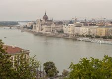 Pest from Buda, viewed across the Danube, Hungary royalty free stock photos