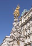The Plague Column or Trinity Column, Vienna, Austria stock photo