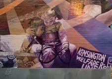 A Tribute to Gloria Casarez, City of Philadelphia MuralArtsProgram stock image