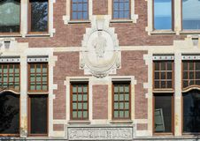 Relief of Hermes with Caduceus, The Rijksmuseum, Amsterdam, Netherlands royalty free stock photos