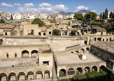 Remains of Herculaneum Parco Archeologico di Ercolano. Pictured are remains of Herculaneum in the Parco Archeologico di Ercolano. The archaeological excavations Royalty Free Stock Photos