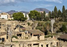 Remains of Herculaneum Parco Archeologico di Ercolano. Pictured are remains of Herculaneum in the Parco Archeologico di Ercolano. The archaeological excavations Royalty Free Stock Photography