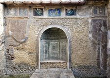 Remains of Herculaneum Parco Archeologico di Ercolano. Pictured are remains of Herculaneum in the Parco Archeologico di Ercolano. The archaeological excavations Royalty Free Stock Images