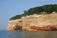 Pictured rock. S national lake shore  landscape Royalty Free Stock Photography