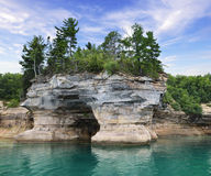 Pictured Rock National Lake Shore Michigan State Stock Image