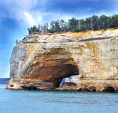 Pictured Rock National Lake Shore Michigan State Stock Photography