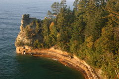 Pictured Rocks stock photography