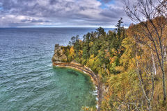 Pictured Rocks in Fall Colors of Upper Peninsula Royalty Free Stock Photos