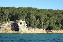 Pictured Rocks on Lake Superior Stock Images