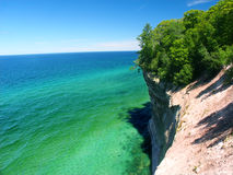 Pictured Rocks - Michigan UP. View of Lake Superior from Pictured Rocks National Lakeshore in Michigan stock photos