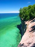 Pictured Rocks - Michigan UP. View of Lake Superior from Pictured Rocks National Lakeshore in Michigan stock images