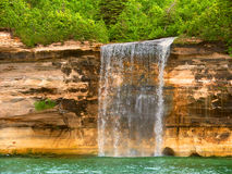 Pictured Rocks National Lakeshore. Spray Falls at Pictured Rocks National Lakeshore in northern Michigan Stock Photography