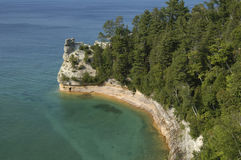 Pictured Rocks National Park. Miners cave at Pictured Rocks National Lakeshore on Lake Superior Stock Photography