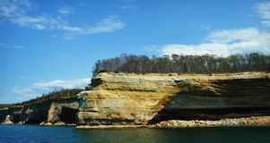 Pictured Rocks. National Seashore landscape from the Upper Peninsula in Michigan royalty free stock photos